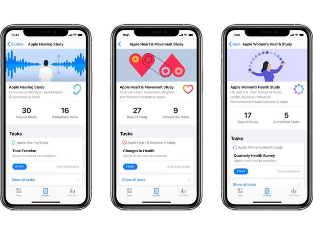 Apple's Research App Launches With Heart, Women's Health, and Hearing Studies in United States