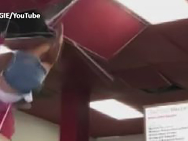 VIDEO: Woman Falls Through Ceiling After Asking To Use Restaurant Bathroom