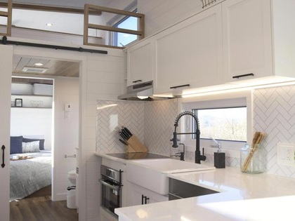 The Magnolia is an extra-wide 'park model' tiny house (Video)