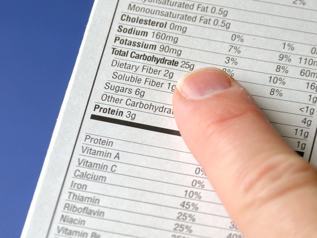Labels Showing Exercise Needed to Offset Food Helps