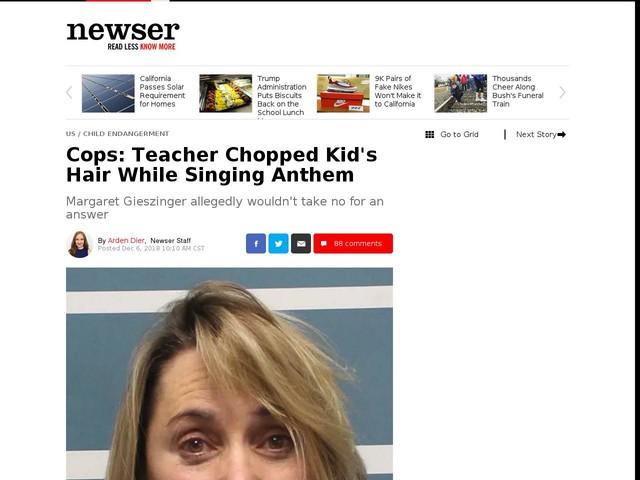 Cops: Teacher Chopped Kid's Hair While Singing Anthem