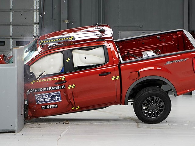 Ford Ranger performs well in IIHS crash tests