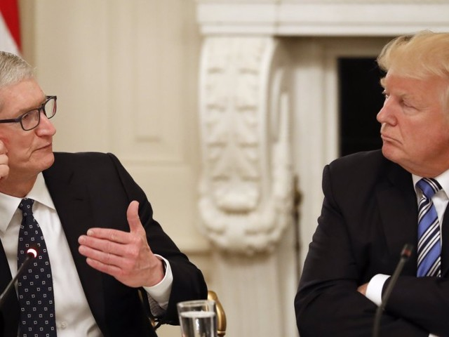 President Trump says he's having dinner with Apple CEO Tim Cook, praises him for 'investing big dollars in U.S.A.'