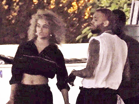 Chris Brown Hangs Out With Model Jasmine Sanders 23 Days After Ammika Harris Gives Birth
