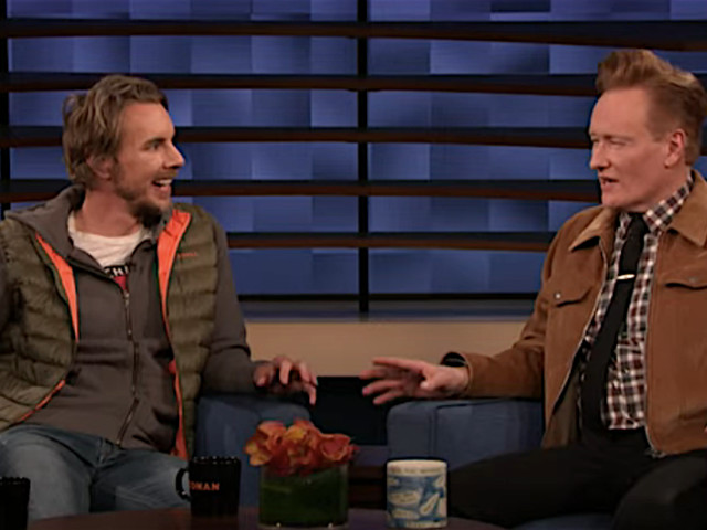 Dax Shepard promotes Frozen 2, which he's not in, on Conan