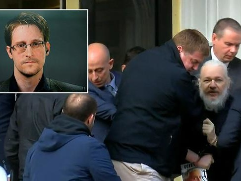 "Edward Snowden: Assange Arrest ""Dark Moment For Press Freedom"" - One For ""The History Books"""