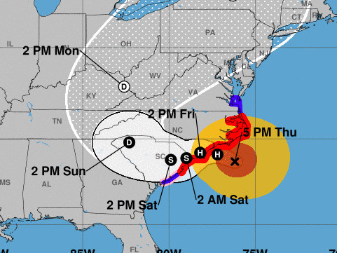 Tracking how Hurricane Florence affects CFB's Week 3