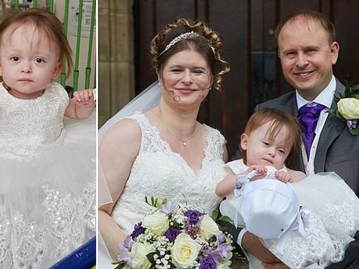 Parents told their baby wouldn't live to watch them get married wed after tot makes miracle recovery
