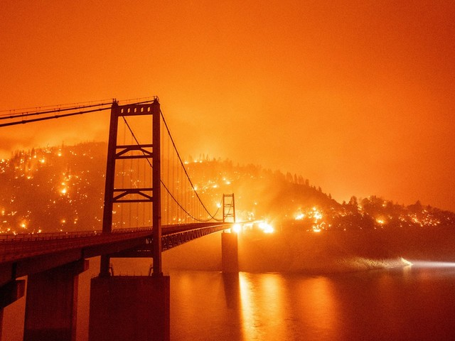 From headshots to blazing infernos: Photographer Josh Edelson gets up close to CA wildfires
