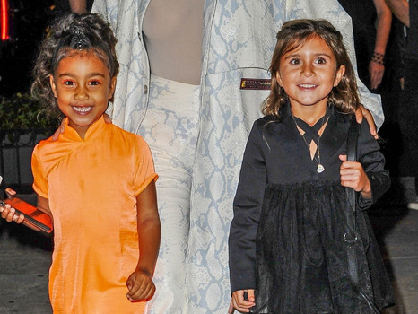 North West, 6, & Penelope Disick, 7, Model Kim's SKIMs Cozy Line With Their 'Cardi Crew' Friends