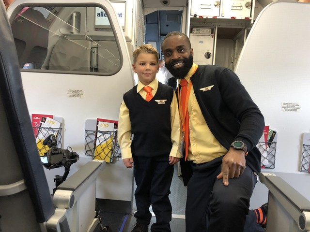 This sick 5-year-old boy got a wish trip to Disney World — and another wish on the flight there