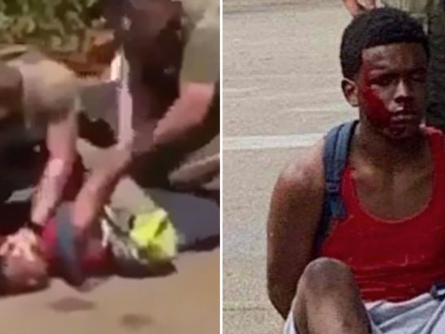 #JusticeForLucca Trends After Video Shows Police Tackling Unarmed Black Teen & Slamming His Head on the Ground