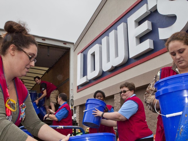 An inside look on how home improvement giants Lowe's and Home Depot are battening down the hatches for Hurricane Dorian (LOW, HD)