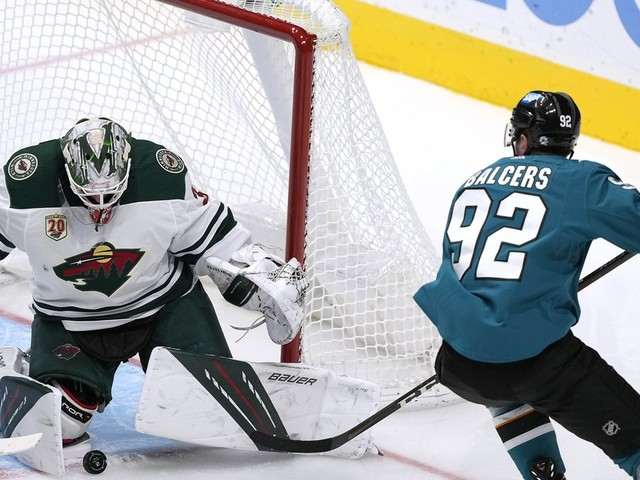 Wild finally falls to Sharks 4-3 in eighth round of shootout