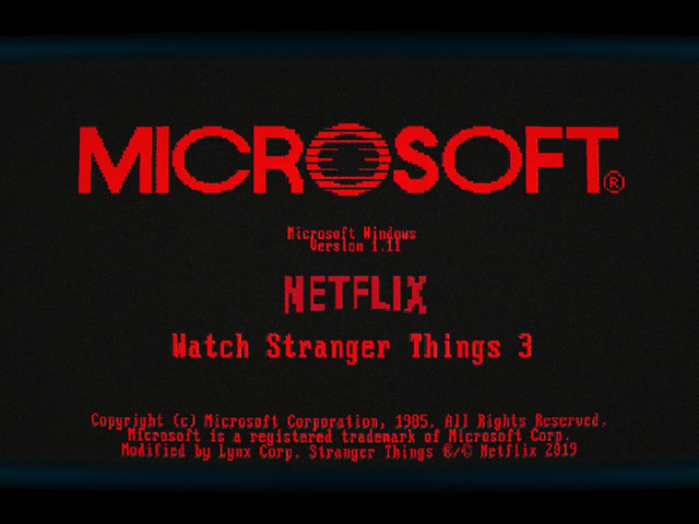 Microsoft's Windows 1.11 app is the perfect tie-in for 'Stranger Things 3'