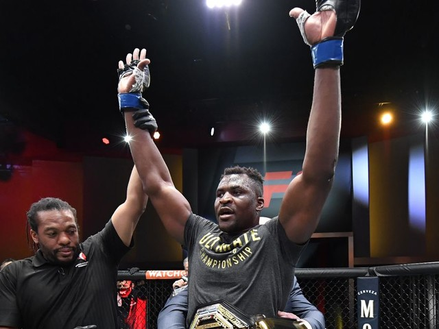 Francis Ngannou reacts to UFC booking interim HW title