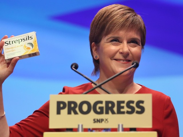 Nicola Sturgeon Mocks Theresa May With Box Of Strepsils As She Outlines Bold Green Vision For Scotland