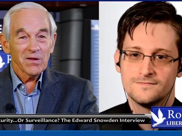 """Ron Paul Interviews Snowden On The """"Rise Of The Deep State"""""""