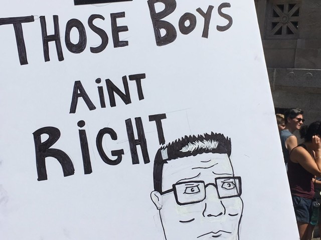 White Supremacists Didn't Show Up In Boston, But These Awesome Signs Did