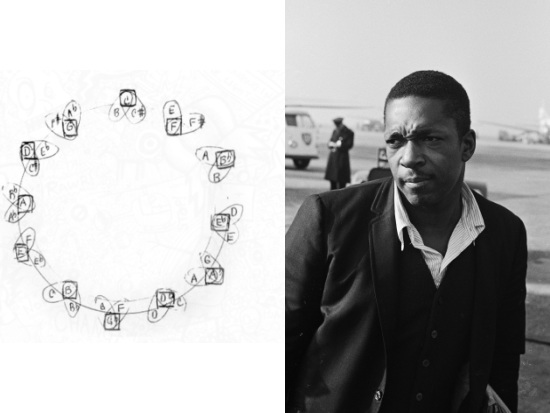 John Coltrane Draws a Mysterious Diagram Illustrating the Mathematical & Mystical Qualities of Music