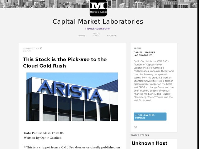 This Stock is the Pick-axe to the Cloud Gold Rush