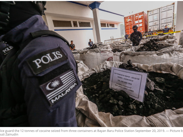 12 Tons Of Cocaine Worth $575 Million Seized In Malaysia's Largest Drug Bust