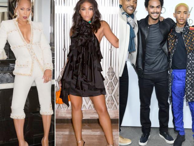 Marjorie & Lori Harvey + Will, Jaden & Trey Smith Bring The Family Vibes To Paris Fashion Week
