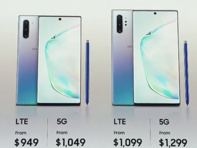 A 5G version of the smaller Samsung Galaxy Note 10 exists, but isn't coming to the US