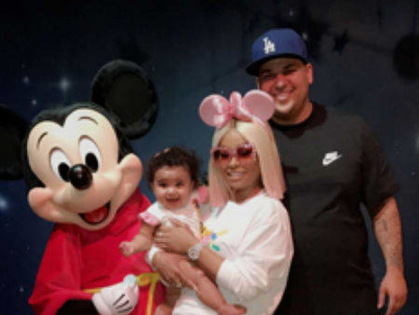 Rob Kardashian Spends First Father's Day With Blac Chyna and Dream at Disneyland