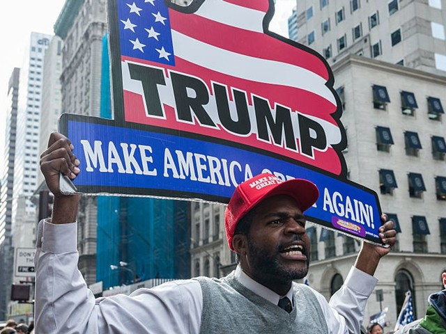 Rasmussen poll says 46% of black voters approve of President Trump