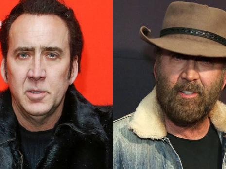 Nicolas Cage, 55, Is Unrecognizable With Big Bushy Beard & Cowboy Hat At New Movie Premiere
