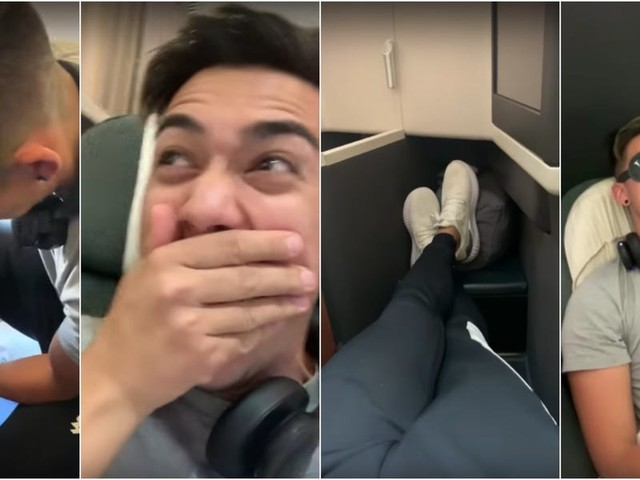 The influencer who faked a broken ankle to get a free business class upgrade says he'd do it again