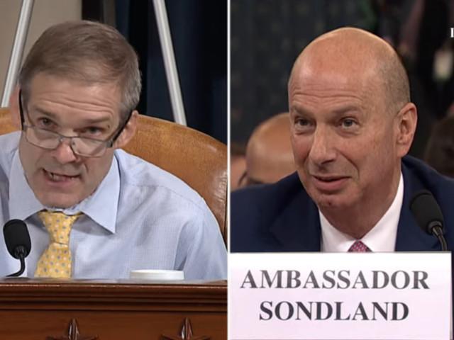 Rep. Jim Jordan grills Ambassador Sondland on his quid pro quo claims: 'When did it happen? ... Never did!'