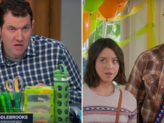 """This Montage of Billy Eichner's Funniest Parks and Rec Lines Has Us """"Wigging Out"""""""