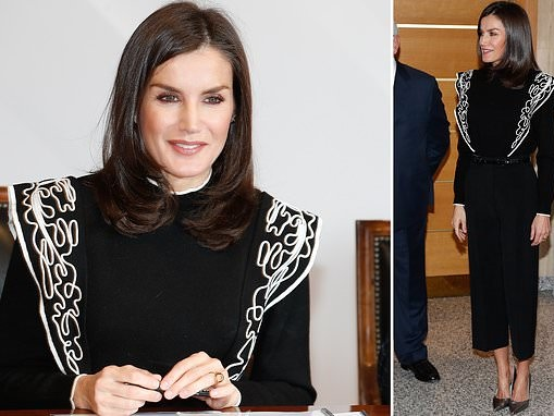 Queen Letizia of Spain looks picture of perfection in black ensemble