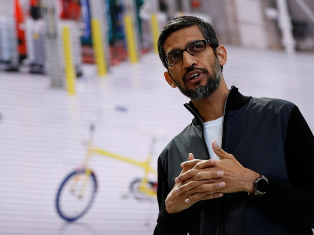 Google CEO Sundar Pichai sent an email to LGBTQ employees saying YouTube was taking a 'hard look' at its harassment policies (GOOG, GOOGL)