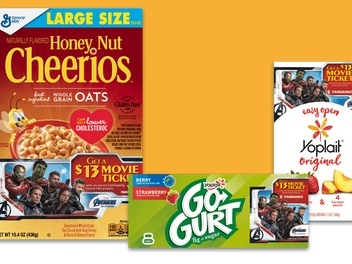Free Movie Ticket with General Mills Purchase
