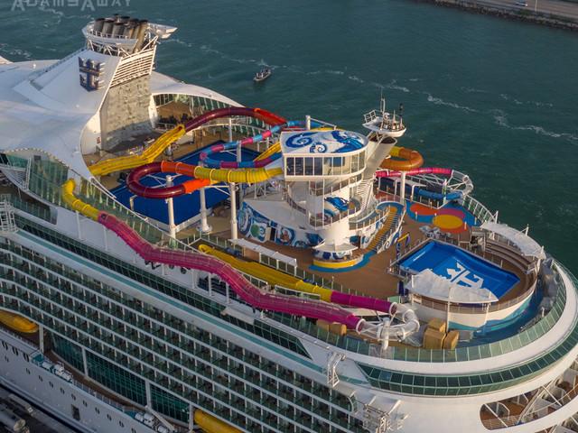 Aerial photos of revitalized Navigator of the Seas