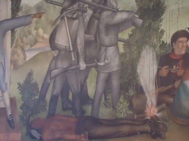 Historic George Washington mural at school that 'glorifies ... white supremacy' faces destruction since it 'traumatizes students'