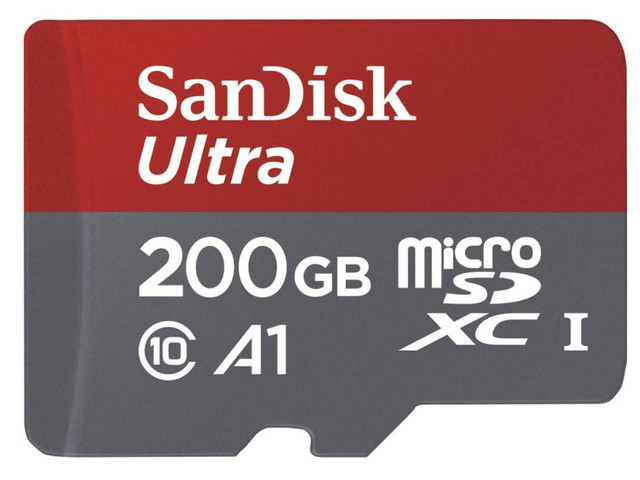 This 200GB SanDisk Ultra microSD card is less than $30 on Amazon today