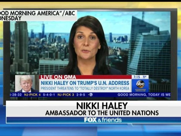 Nikki Haley Defends President Trump 'Rocket Man' Kim Jong Un, North Korea Remarks