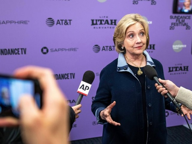 At Sundance, Clinton warns of voter suppression in election
