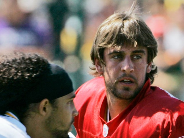A 24-year-old Aaron Rodgers used to help the Packers' scout team 'carve' up the team's best defenders, wowing veterans