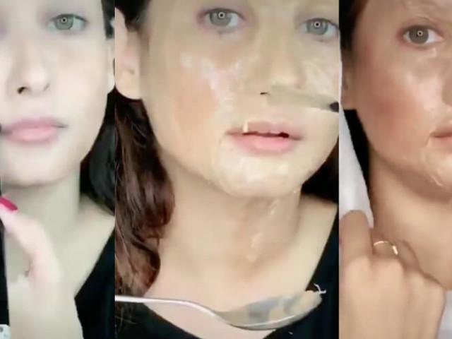 Actress slammed for 'acid attack-face' TikTok challenge