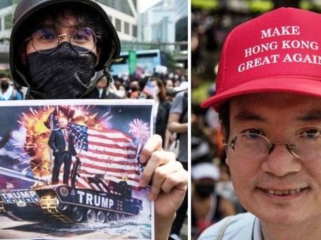Hong Kong Riot Police Fire Tear Gas After Thousands Beg Trump For Help