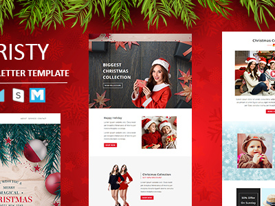 Christy - Responsive Email Template with Stampready Builder Access (Newsletters)