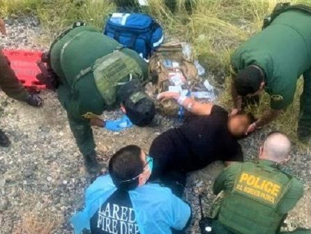 Migrant Female Injured After Falling Under Train in Texas near Border