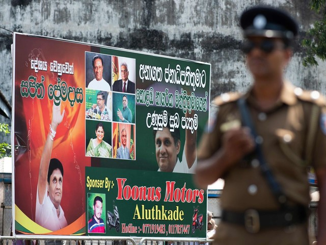 After Easter Sunday terrorist attacks, fears dominate Sri Lanka's election