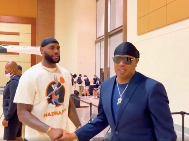 Watch Master P and LeBron James Discuss Fatherhood During Kids' Basketball Game