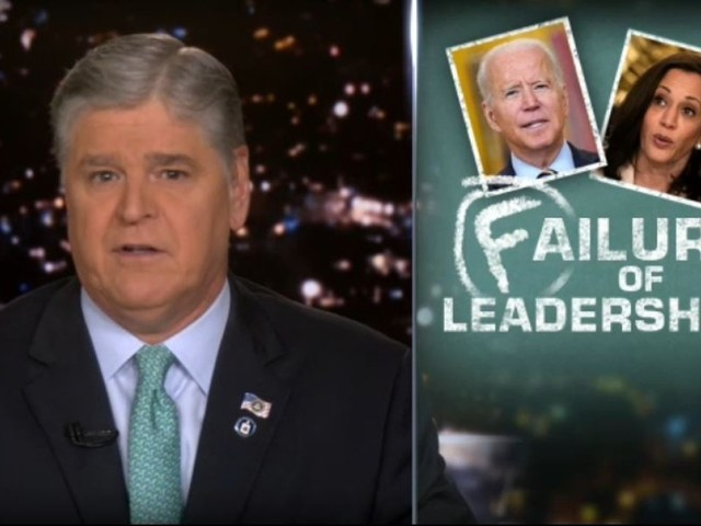 Hannity gives Biden his six month report card